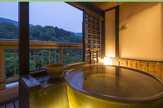 20室の露天風呂付のお部屋