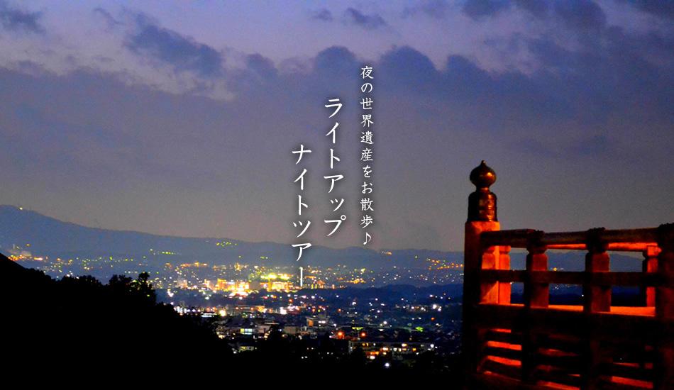 夜の世界遺産をお散歩♪ライトアップナイトツアー